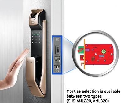 قفل درب آپارتمان بدون دستگیره