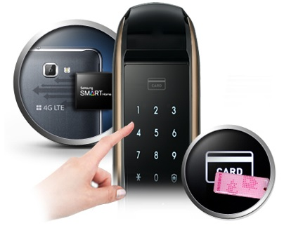 قفل دیجیتال بدون دستگیره رمزدار سامسونگ