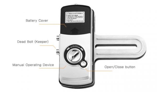 قفل امنیتی دیجیتال شیشه سکوریت