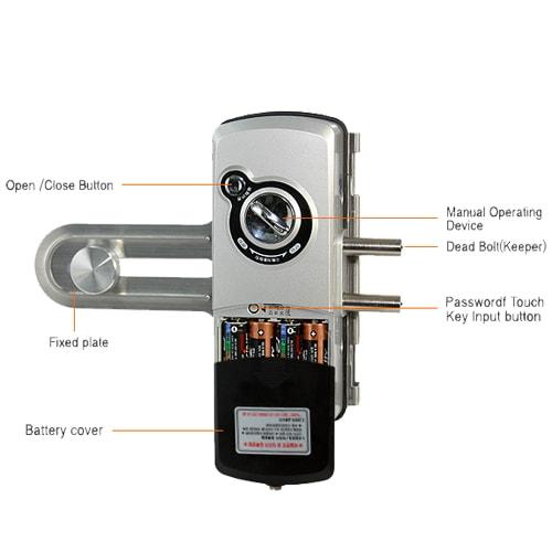 قفل دیجیتال اورنت مدل EVERNET GLASS بدون دستگیره