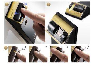 قفل دیجیتال گیتمن مدل F300-FH با دستگیره و اثر انگشت