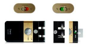 قفل دیجیتال گیتمن مدل F50-FD اثر انگشتی بدون دستگیره