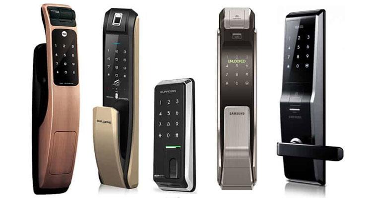 مدل های مختلف قفل دیجیتال بر اساس نوع دستگیره