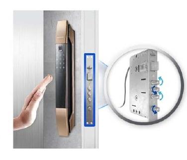 قفل ضد سرقت رمزی کارتی اثر انگشتی سامسونگ SHP-DP808