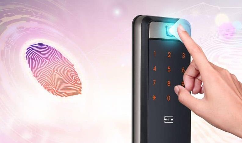 قفل الکترونیکی کره ای سامسونگ رمز و کارت و اثر انگشتی SHP-DP609